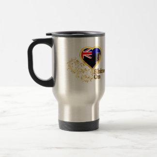 Shine On British Virgin Islands 15 Oz Stainless Steel Travel Mug