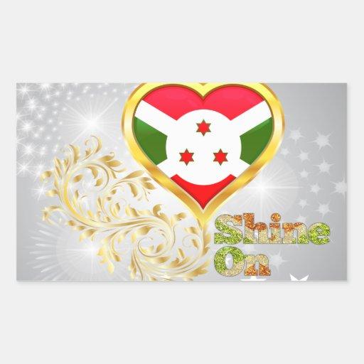 Shine On Burundi Rectangular Sticker