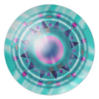 'Shine on' Celebration Plate Blue