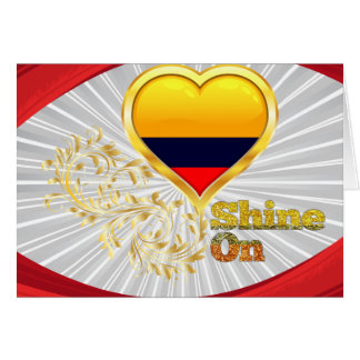 Shine On Colombia Greeting Cards
