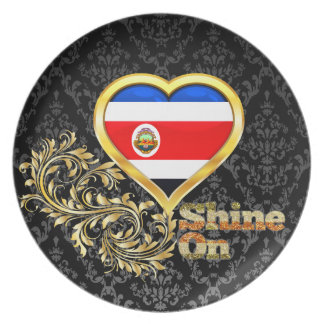 Shine On Costa Rica Dinner Plate