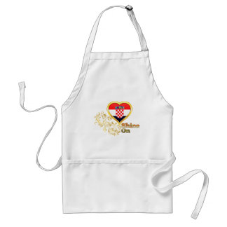 Shine On Croatia Adult Apron