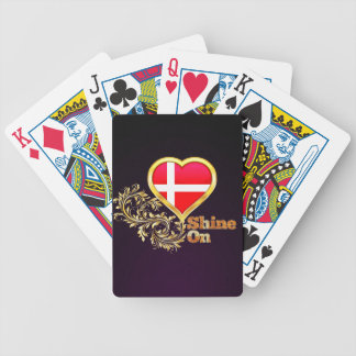 Shine On Denmark Bicycle Playing Cards