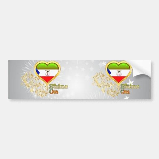 Shine On Equatorial Guinea Bumper Stickers