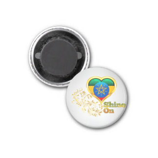 Shine On Ethiopia 1 Inch Round Magnet