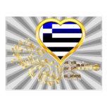 Shine On Greece Postcard