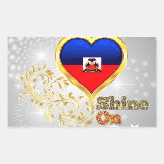 Shine On Haiti Rectangular Sticker