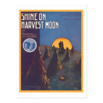 Shine On, Harvest Moon Songbook Cover Postcard