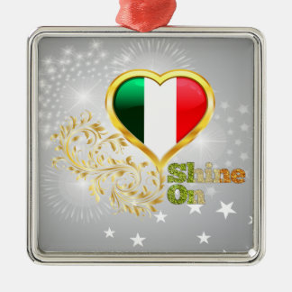 Shine On Italy Metal Ornament
