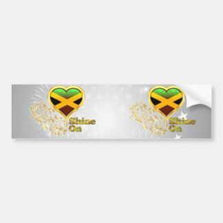 Shine On Jamaica Bumper Stickers