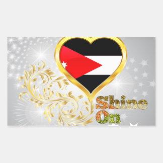 Shine On Jordan Rectangular Sticker
