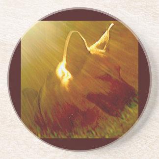 Shine On Me German Shepherd #1 Drink Coaster