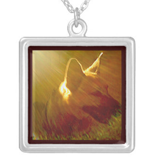 Shine On Me German Shepherd #1 Silver Plated Necklace