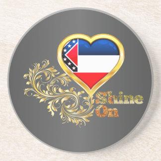 Shine On Mississippi Coaster
