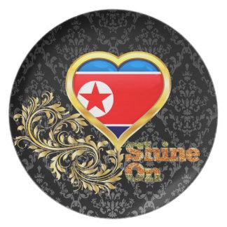 Shine On North Korea Dinner Plates