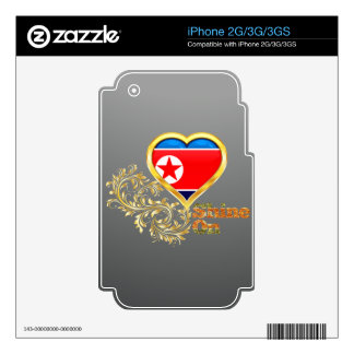 Shine On North Korea Skin For The iPhone 3G