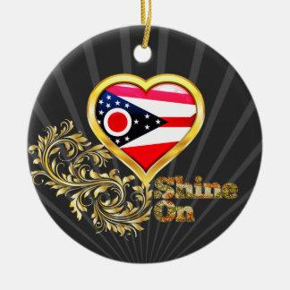 Shine On Ohio Christmas Ornaments