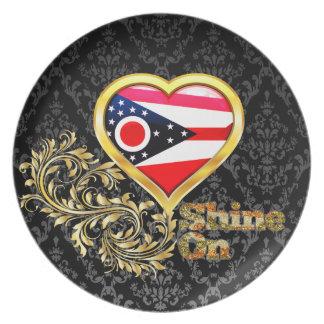 Shine On Ohio Dinner Plate