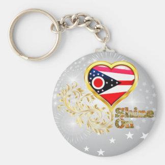 Shine On Ohio Keychain