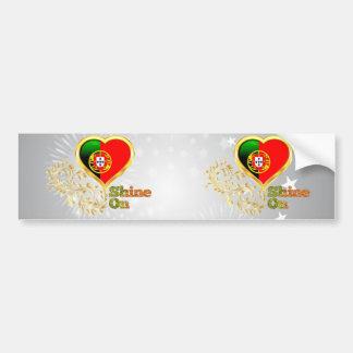 Shine On Portugal Bumper Sticker