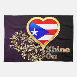 Shine On Puerto Rico Hand Towel