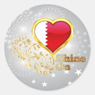 Shine On Qatar Round Stickers