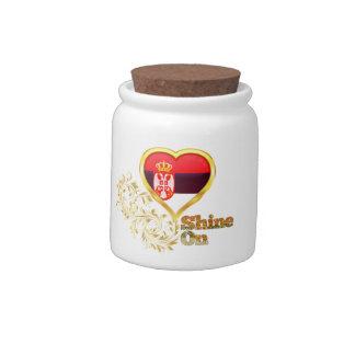 Shine On Serbia Candy Jar