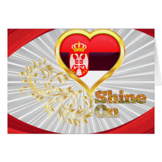 Shine On Serbia Card