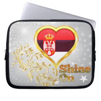Shine On Serbia Computer Sleeve