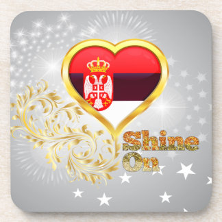 Shine On Serbia Drink Coasters