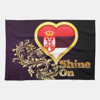 Shine On Serbia Hand Towels