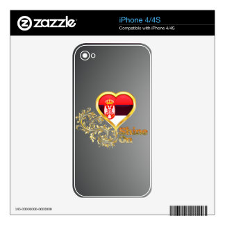 Shine On Serbia iPhone 4S Skins