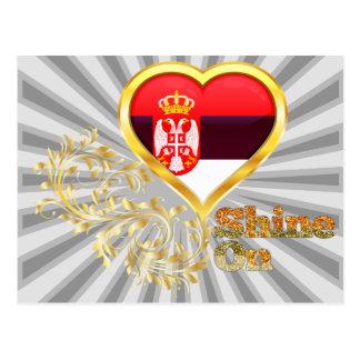 Shine On Serbia Postcard