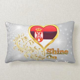 Shine On Serbia Throw Pillow