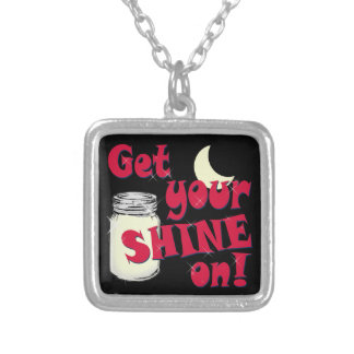 shine on silver plated necklace