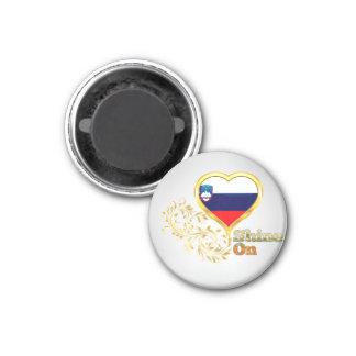 Shine On Slovenia 1 Inch Round Magnet