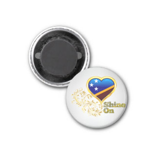 Shine On Solomon Islands 1 Inch Round Magnet