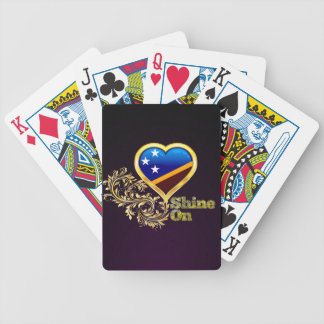 Shine On Solomon Islands Bicycle Playing Cards