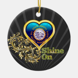 Shine On South Dakota Christmas Tree Ornament