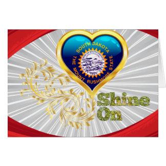 Shine On South Dakota Greeting Card