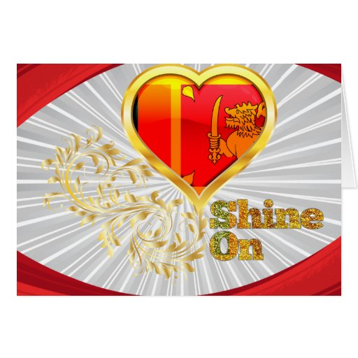 Shine On Sri Lanka Stationery Note Card