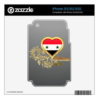 Shine On Syria Skin For iPhone 3GS