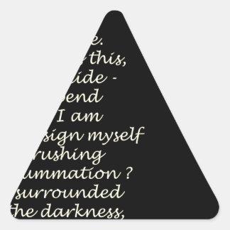 Shine On Triangle Sticker