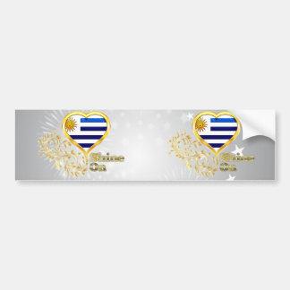 Shine On Uruguay Car Bumper Sticker
