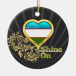 Shine On Uzbekistan Christmas Ornaments