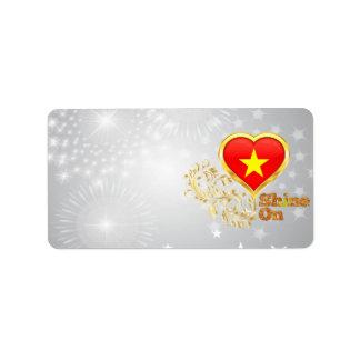 Shine On Vietnam Personalized Address Label