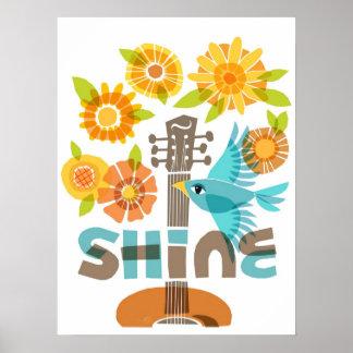 SHINE silk-screen look poster