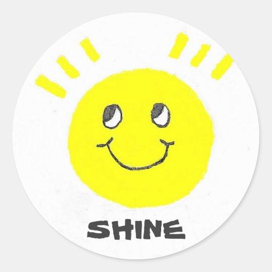 SHINE Smiley Classic Round Sticker