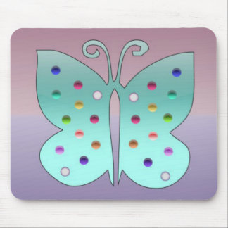 Shiney Butterfly Mouse Pad