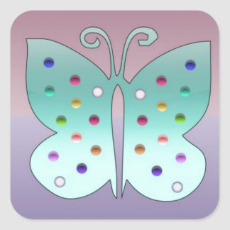 Shiney Butterfly Stickers